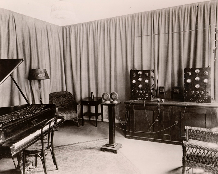 another view of an early WPAJ broadcast studio