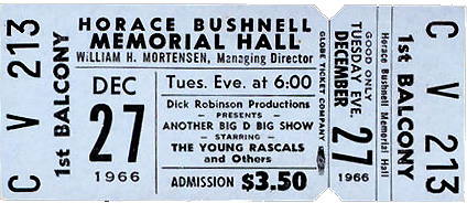 ticket to December 27, 1966 Big D Big Show - Young Rascals