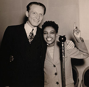 September 29, 1939 - WDRC Announcer Ray Barrett with Maxine Sullivan
