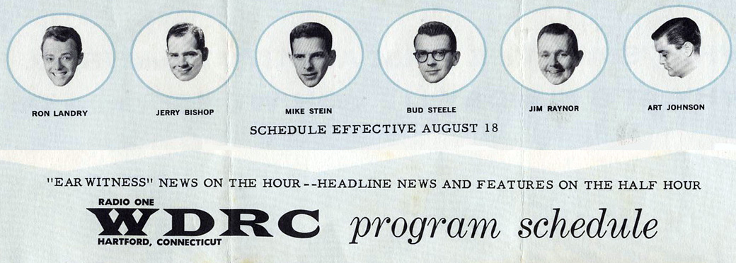 WDRC promotional brochure from August 1960