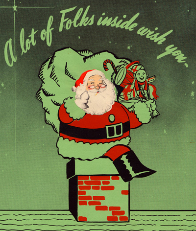 cover of WDRC's 1941 Christmas card