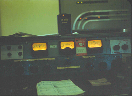 WPOP's General Electric console circa December 1959