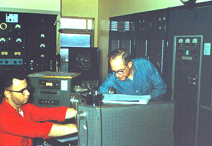 WPOP engineers (l-r:) Chuck Ripley and Don Muckle