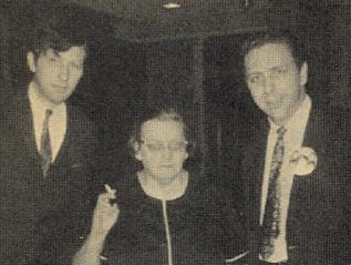 Mid Sixties - WDRC's Don Wade & Bertha Porter with WABC deejay Bob Lewis