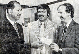 August 1972 - (l-r) Richard Varsell, WDRC's Jim Harrington and Martin Fleming