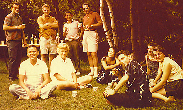 WDRC staff picnic in 1960