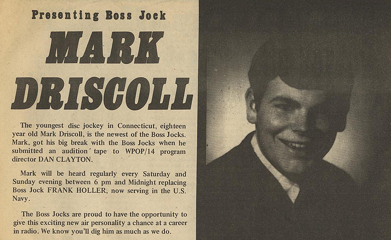 WPOP's Go Magazine article on Mark Driscoll - July 11, 1969