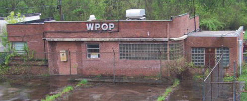 May 5, 2009 - WPOP transmitter building on Cedar Street in Newington. Photo courtesy of Steve DiCo Mannix.