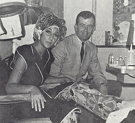 WDRC's Dick Robinson and Cher get their hair done - 1965