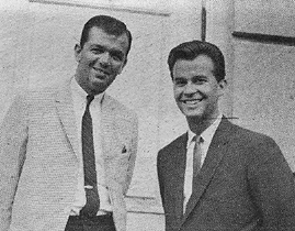 WDRC's Dick Robinson and Dick Clark at a Big D Big Show  in 1964