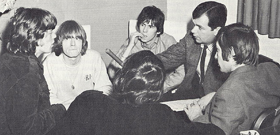 WDRC's Dick Robinson with the Rolling Stones in 1965
